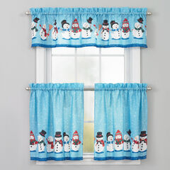 Holiday Valance, BLUE SNOWMAN