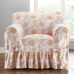 Chair Slipcover, NATURAL FLORAL