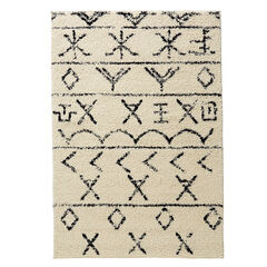 Moroccan Rug, IVORY BLACK