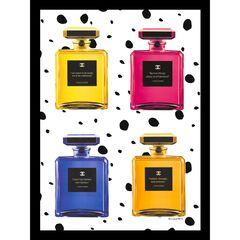 Chanel Quote Bottles 14x18 Framed Print, MULTI