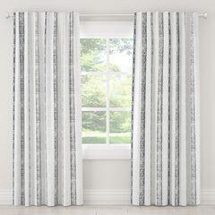 Blackout Curtain, PRINT STRIPE GREY