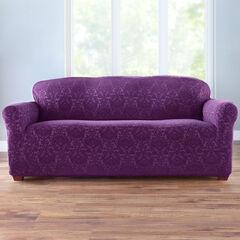 BH Studio Ikat Stretch Sofa Slipcover, PLUM