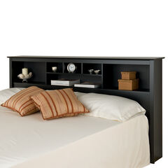 Prepac Sonoma Black King Storage Headboard,