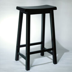 "Antique Black with Sand Through Terra Cotta Bar Stool, 29"" Seat Height, ANTIQUE BLACK"