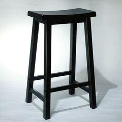 "Antique Black with Sand Through Terra Cotta Bar Stool, 29"" Seat Height, ANTIQUE BLACK"