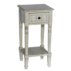 Simplify Accent Table with Drawer, ANTIQUE WHITE