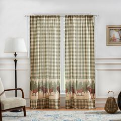 Moose Creek Curtain Panel Pair by Greenland Home Fashions, MULTI