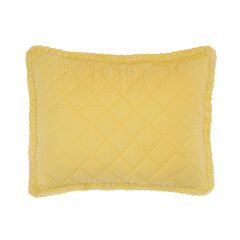 Paige Diamond Lace Sham, SUNSHINE YELLOW