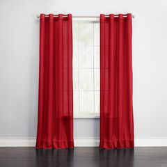 BH Studio Sheer Voile Grommet Panel, RUBY
