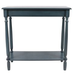 Antique Navy Rectangle Console by J. Hunt, NAVY