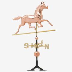 Copper Horse Weathervane, POLISHED