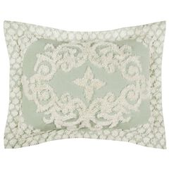 Florence Collection Tufted Chenille Standard Sham Blue by Better Trends, SAGE
