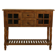 Natural Wood Buffet Console by J. Hunt, WOOD