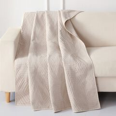 Barefoot Bungalow Parker Quilted Throw Blanket, LINEN