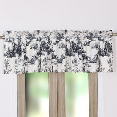 Classic Toile Window Valance by Greenland Home Fashions, BLACK