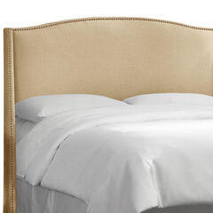 Nail Button Wingback Headboard, SANDSTONE