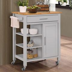 Gray Kitchen Cart, GRAY NATURAL