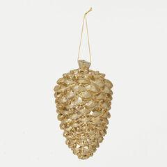 Champagne Pinecone Ornament ,