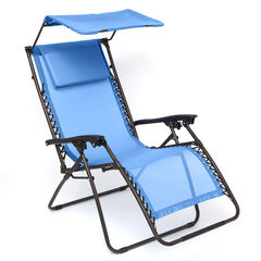 Zero Gravity Chair With Pillow And Canopy, POOL