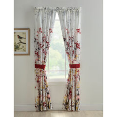 Funky Floral Panel Set, BURGUNDY MULTI