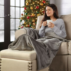 Foot Pocket Blanket, GRAY