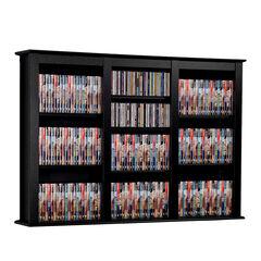 Triple Wall Mounted Multimedia Storage ,