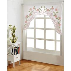 Bloomfield Collection in Floral Design 100% Cotton Tufted Chenille Valance by Better Trends, ROSE