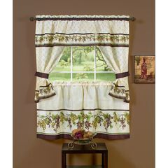Tuscany Cottage Window Curtain Set, MULTI