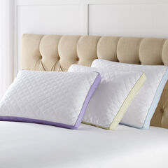 Back Sleeper Gusseted Density 2-Pack Pillows, WHITE LILAC