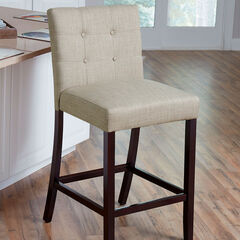 Aida Extra-Wide Counter Stool, BISCUIT