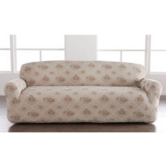 Floral Stretch Sofa Slipcover, MOONSTONE