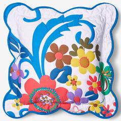 "Jardin 16"" Decorative Pillow, WHITE BLUE"
