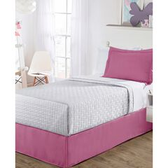 "Luxury Hotel Kids Tailored 14"" Drop Pink Bed Skirt,, PINK"