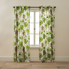 BH Studio Canvas Printed Grommet Panel, LIME POPPY