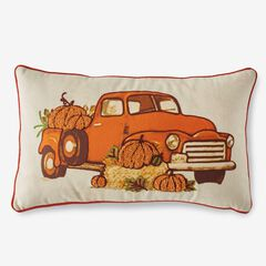 Holiday Lumbar Pillow, HARVEST TRUCK