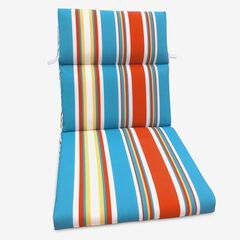 Universal Chair Cushion, RED BLUE STRIPE