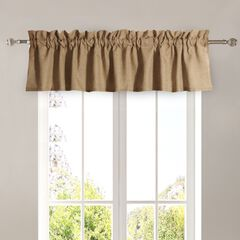 Burlap Natural Window Valance by Greenland Home Fashions, NATURAL