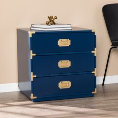Campaign 3-Drawer Accent Chest, NAVY