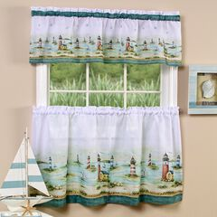 Hamptons Tier and Valance Window Curtain Set, SAND