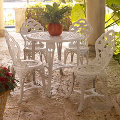 Bistro Set with 5-Pcs., WHITE