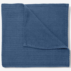 BH Studio Primrose Cotton Blanket, DENIM