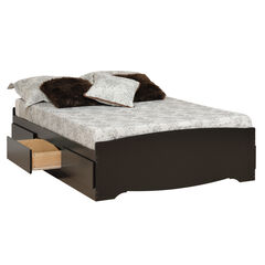 Sonoma Black Double Platform Storage Bed (6-drawers),