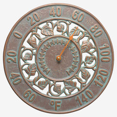 Ivy Silhouette Thermometer, COPPER VERDIGRIS