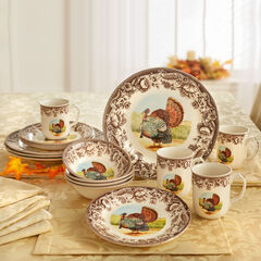 16-Pc. Turkey Dinnerware Set,