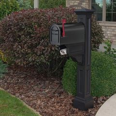 Charleston Plus Mail Post, BLACK