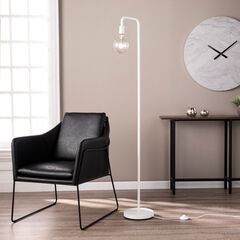 Maddox White Metal Floor Lamp,