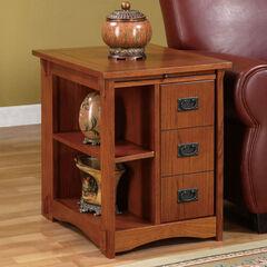 """Mission Oak"" Magazine Cabinet Table,"