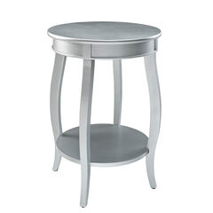 Round Table with Shelf, SILVER