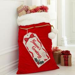 Velvet Santa Bag,