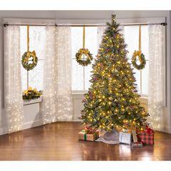 7½' Pre-Lit Glitter Fern Frosted Tree,
